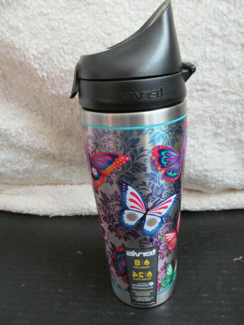 Tervis 1298877 Butterfly Motif Stainless Steel Insulated Tum