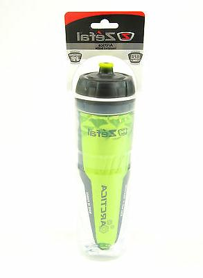Zefal 165 Arctica 25oz Insulated Bicycle Water Bottle, Green