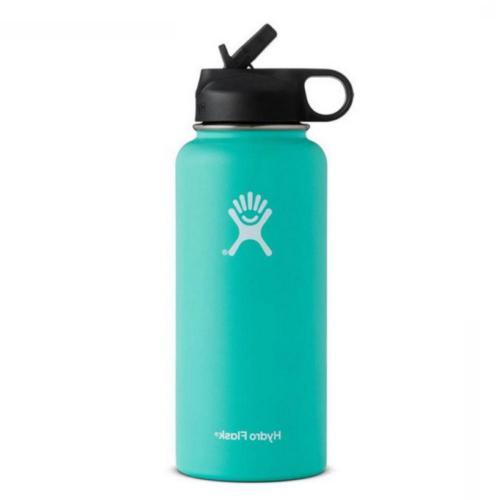18/32/40oz Flask Mouth Steel Water Bottle with