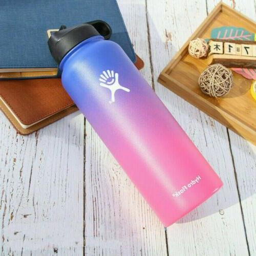 18/32/40oz Hydro Mouth Stainless Bottle Straw Lid