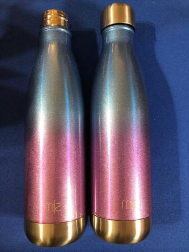 2 17oz wave water bottle double wall