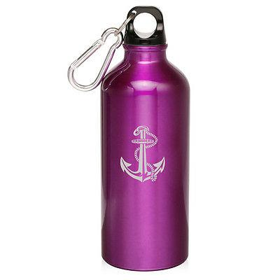 20oz Aluminum Water Bottle with Rope