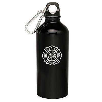 20oz Aluminum Bottle Firefighter Dept Maltese Cross