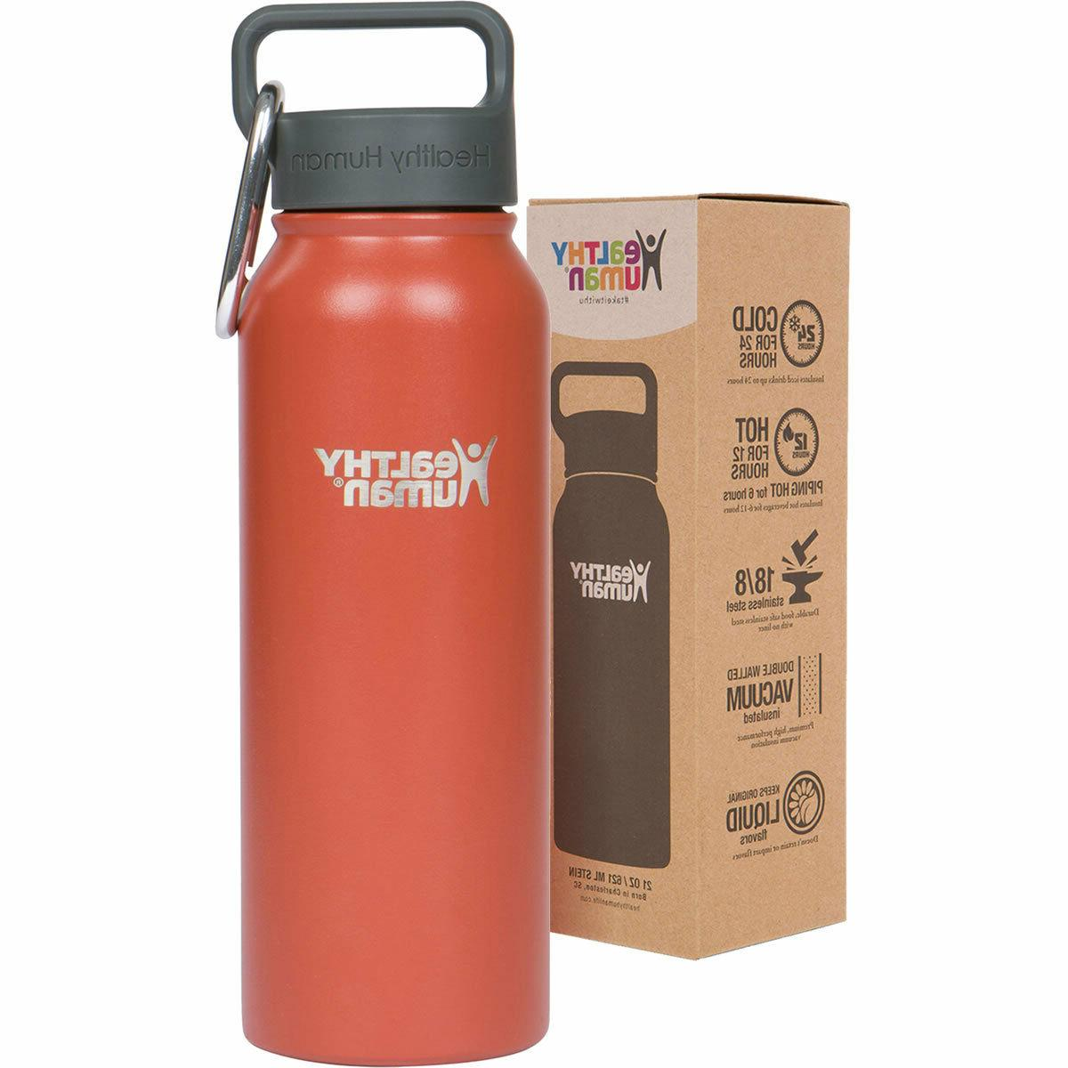 Healthy Human 21 oz Cinnamon Insulated Stainless Steel Water