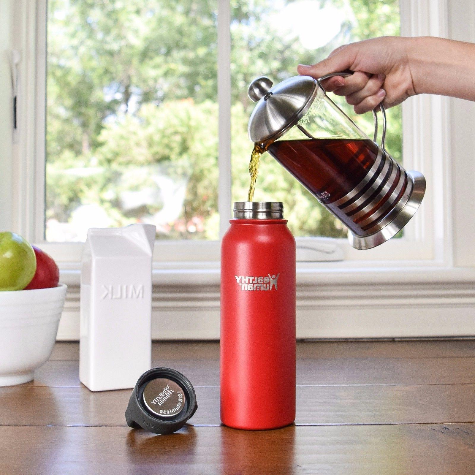 Healthy 21 Red Stainless Steel Water