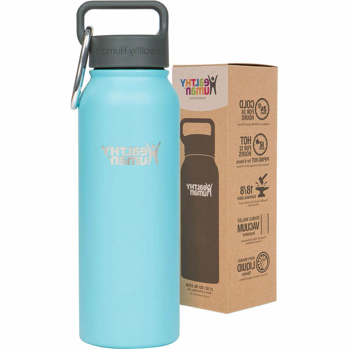 21oz glacier insulated stainless steel water bottle