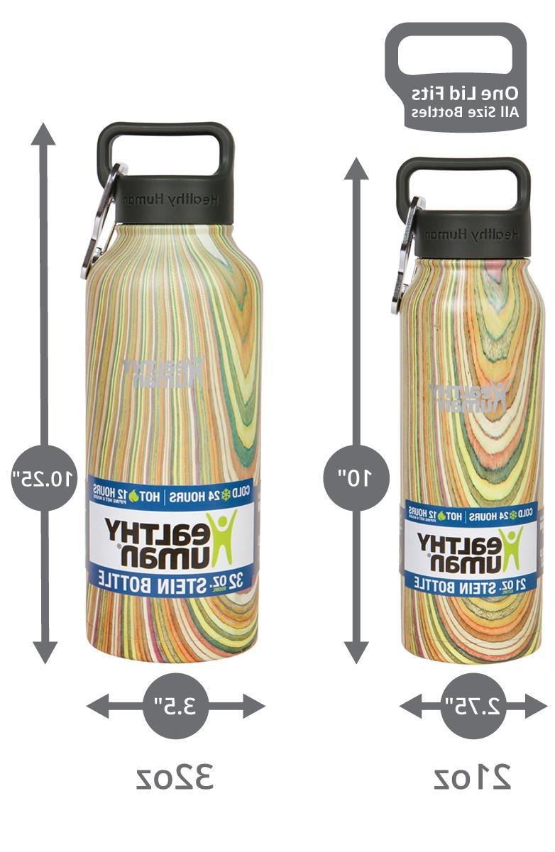 Healthy Human 21oz-midnight-oak Stainless Water Stein