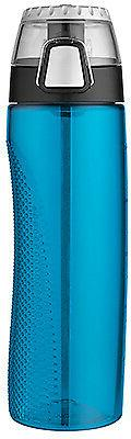24-oz. Blue Hydration Bottle With Rotating Intake Meter