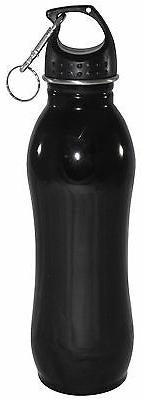 25 oz - Stainless Steel Sports Water Bottle With Clip - Wide