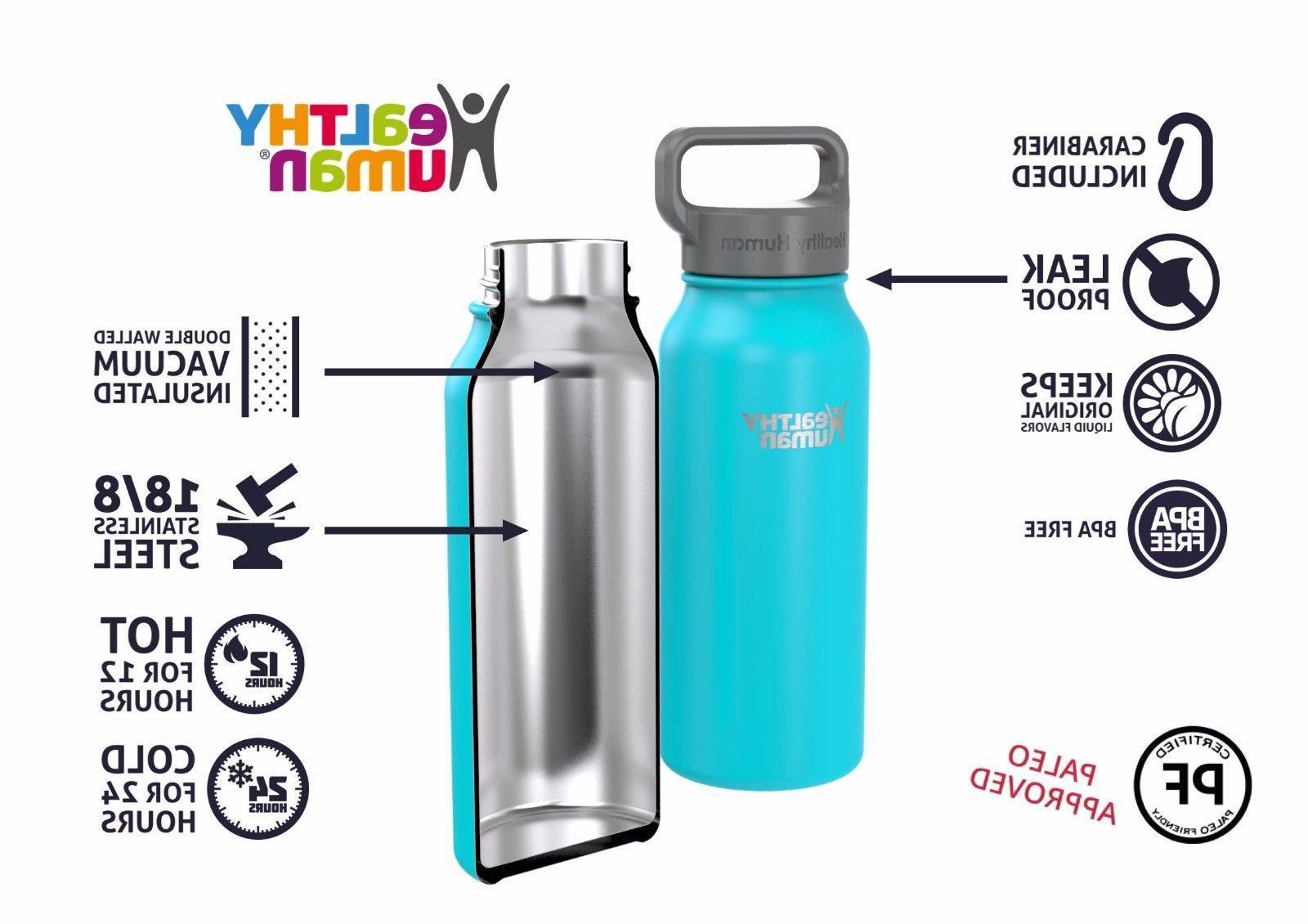 Healthy 32 oz Glacier Insulated Water Bottle Stein