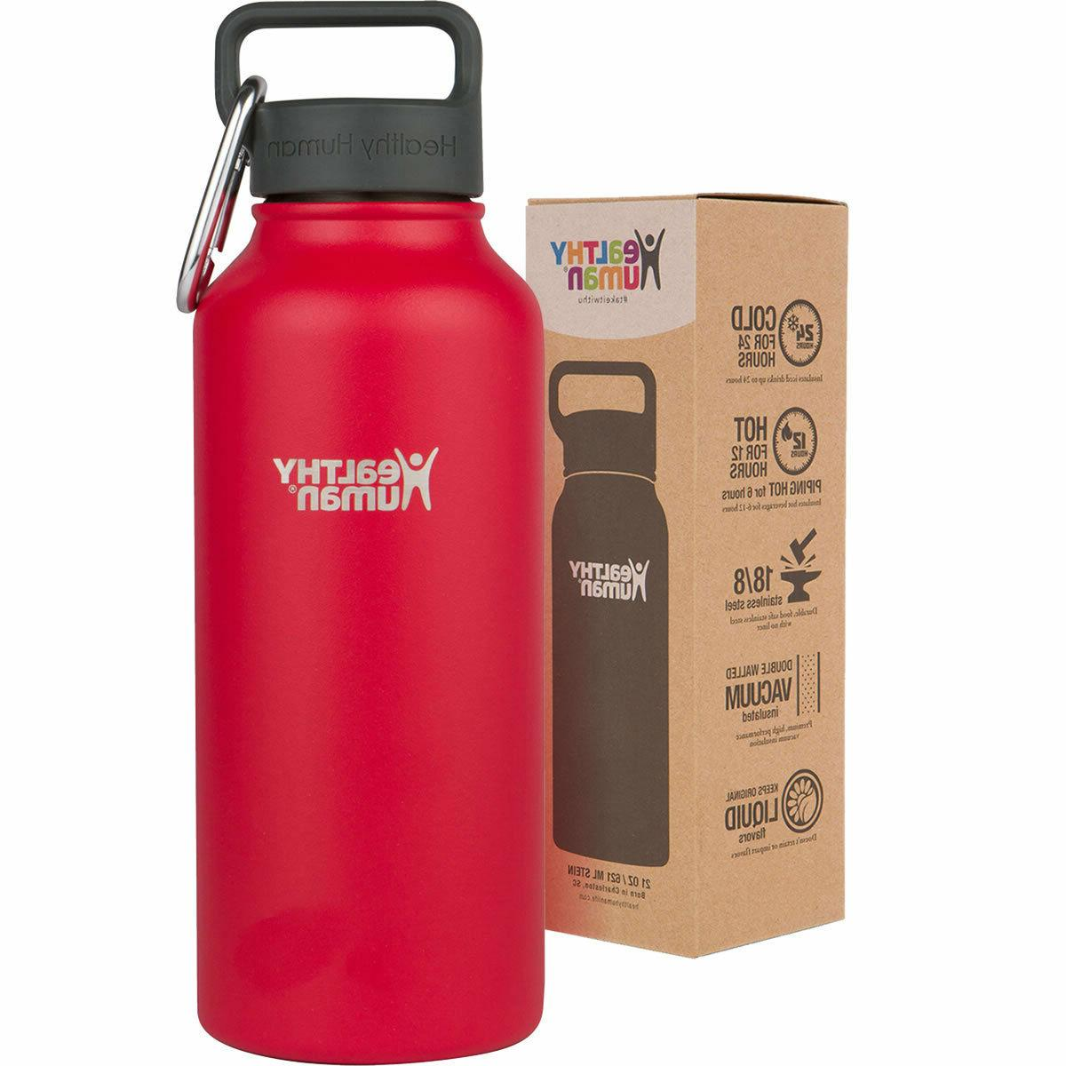 Healthy Human 32 Multiple Colors Stainless Steel Water Bottle