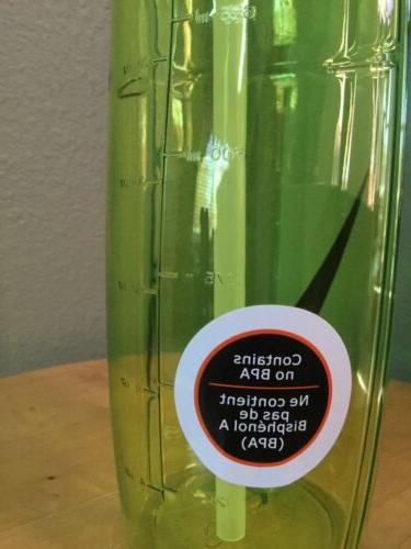 Nike-32-Oz-T1-Flow-Swoosh-Water-Bottle-BPA-Free-Clear-Green-Quick-Carry-Hydrate