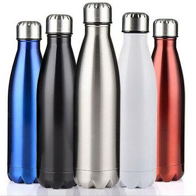 Vacuum Insulated Flask Double Wall Thermos Sport Water Bottl