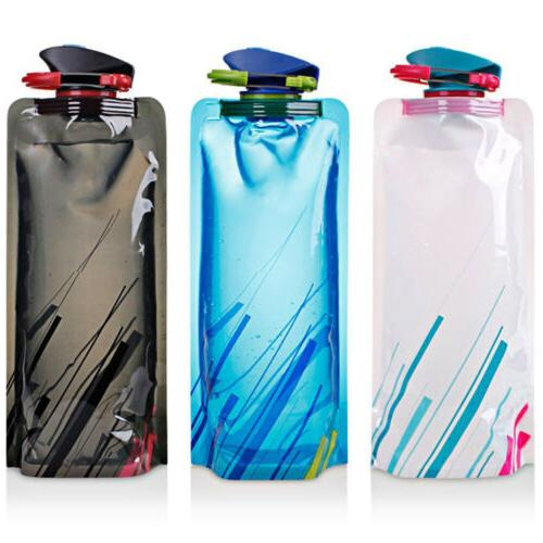 3X 700ml Travel Cup Folding Collapsible Water Warehouse