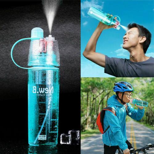 Portable Spray Sports 400/600ml Bottle Drinking Water Hiking