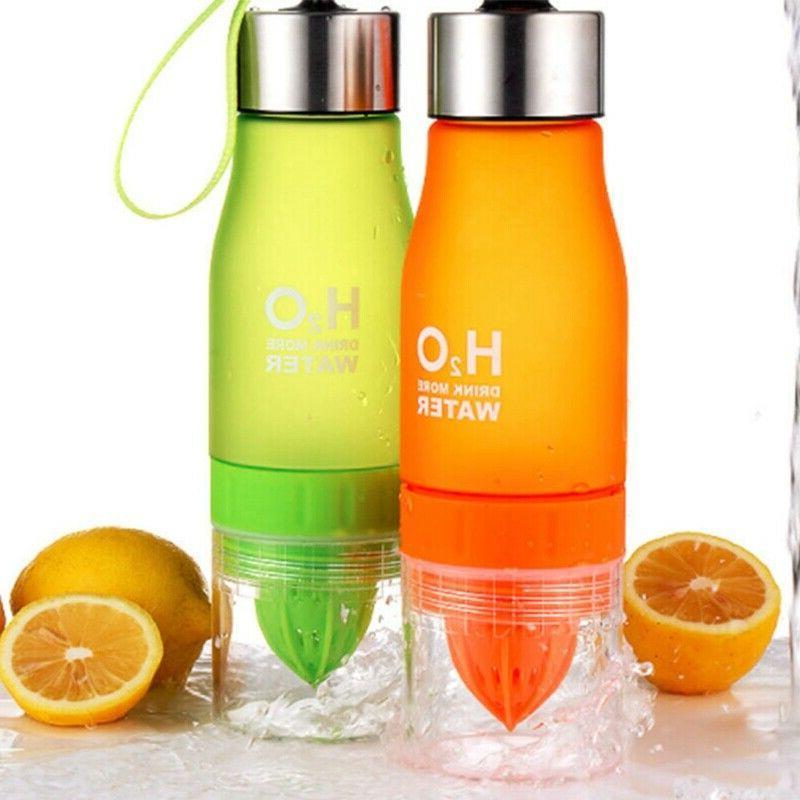 650ml H2O Lemon Juice Cup Infuser Water Health Bottle/YL