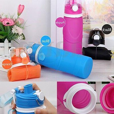 750ml Portable Silicone Travel Foldable Water Handy