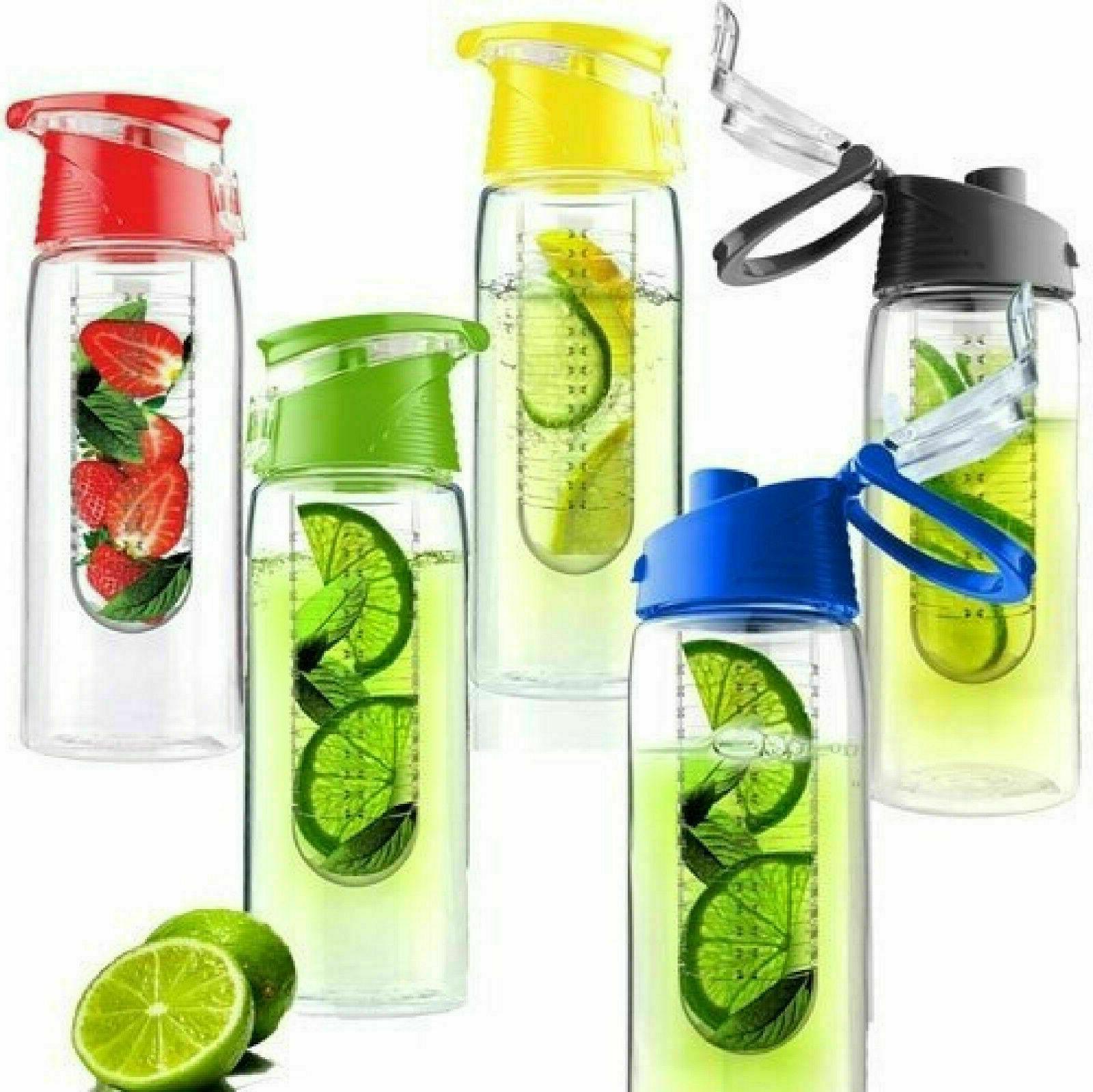 750ml Sports BPA Free Infuser Water Bottle Fruit Lemon Juice