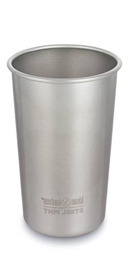 Klean Kanteen Single Wall Stainless Steel Cups, Pint Glasses