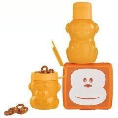 Tupperware Monkeying Around Lunch set in Orange