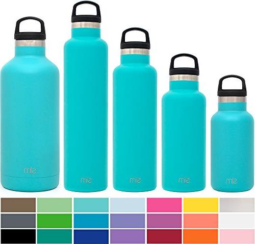 60 NEW 18//8 ROHO THERMOS STAINLESS STEEL SIP BOTTLE W// LID,24 OZ DRINK CLOSEOUT