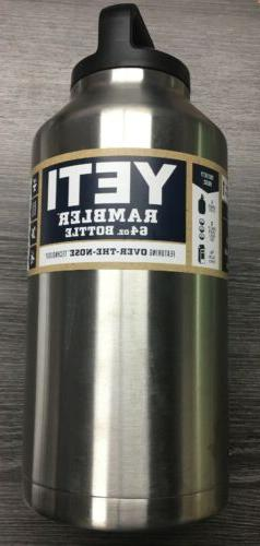 AUTHENTIC) Yeti YRAMB64 Stainless Steel Rambler Bottle 64 Oz