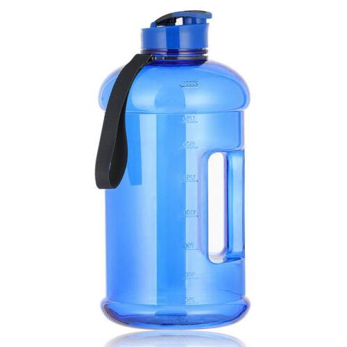 Big Water Bottle for Gym Fitness Workout Reusable Sport Half