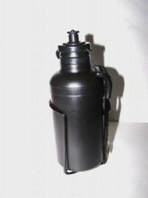BLACK BICYCLE WATER BOTTLE WITH CAGE BIKE ACCESSORIES PARTS