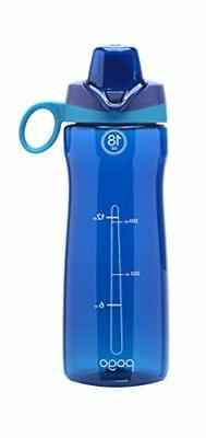 Pogo BPA-Free Plastic Water Bottle with Chug Lid, Blue, 18 o