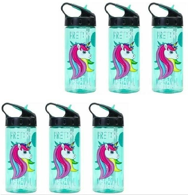 Cool Gear BPA- Free Unicorn Sip Water Bottle with Straw