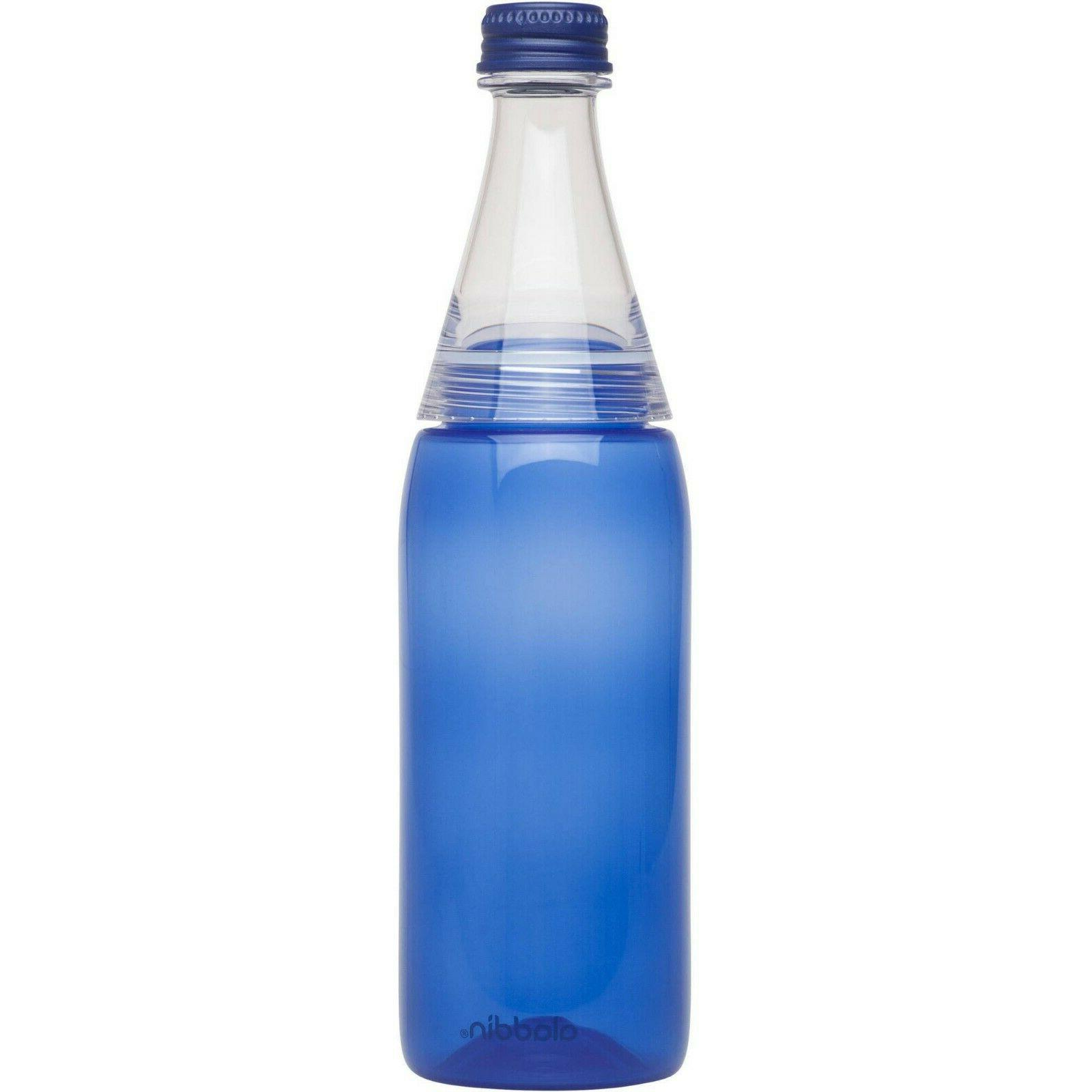cafe to go water bottle 20oz blue