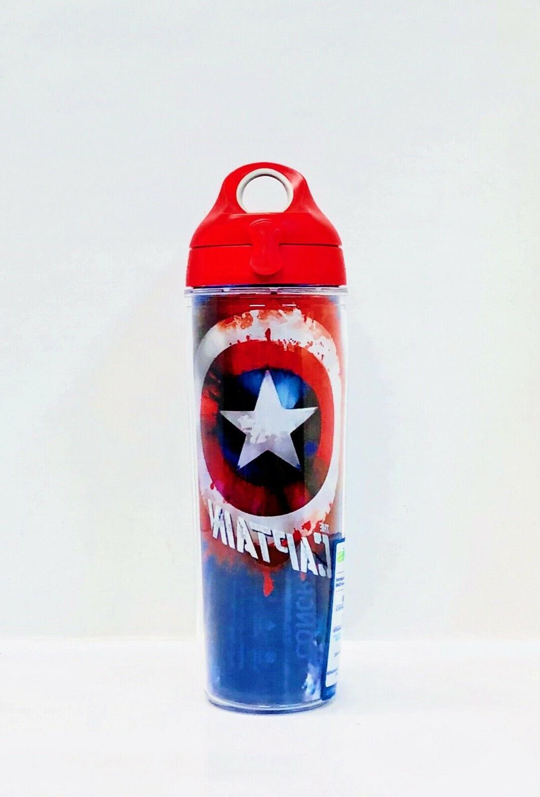 captain america 24 oz water bottle