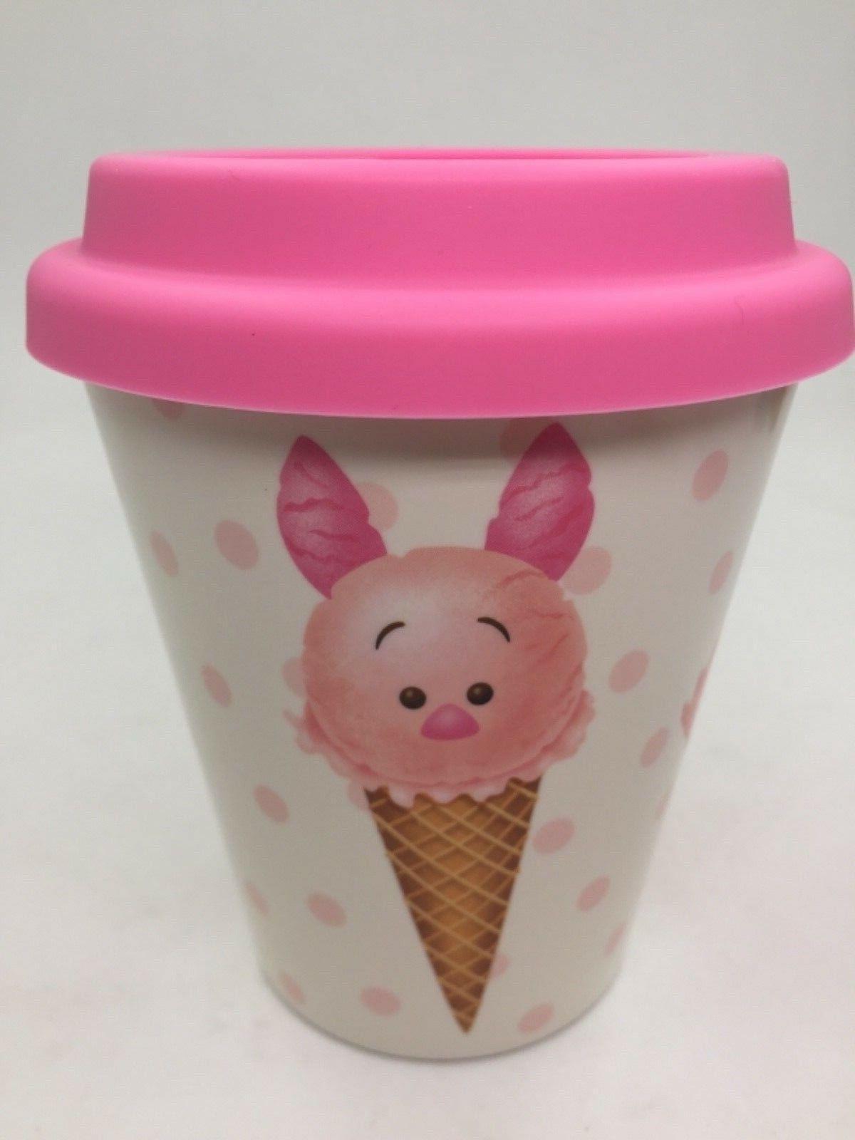 DISNEY Cartoon Water Bottle Mug With Plastic Pink Lid for Ki