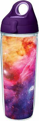 Tervis 1231320 Celestial Tumbler with Wrap and Purple Lid 24
