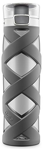 Ello Chi BPA-Free Plastic Water Bottle, Grey, 24 oz