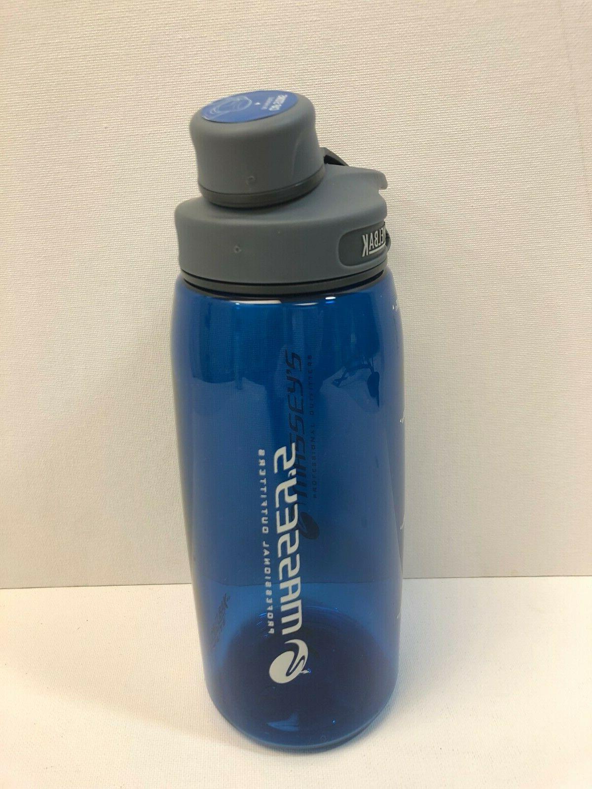 chute 1 liter water bottle blue massey