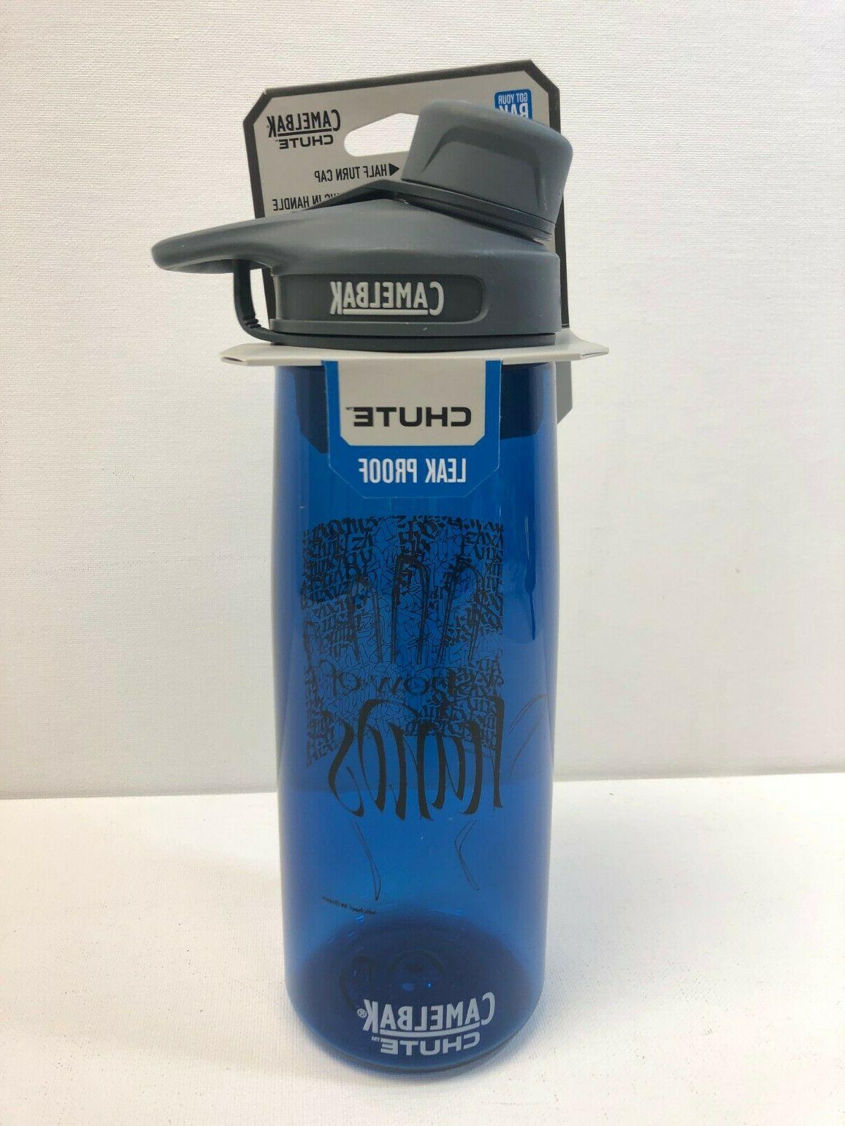 chute 75l 25 oz blue water bottle