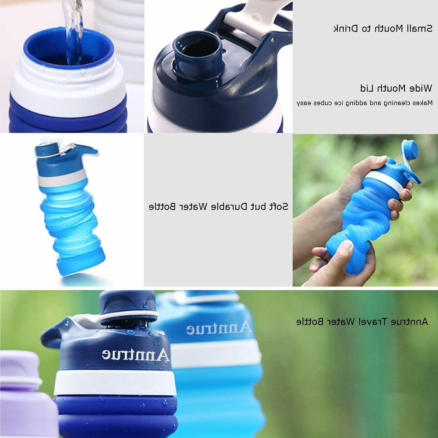 Collapsible Bottle Free, FDA Food-Grade Silicone for