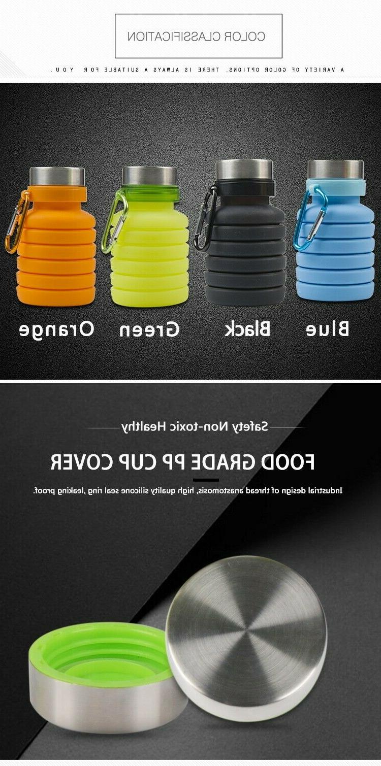 Collapsible Bottle, Free Silicone Travel Water