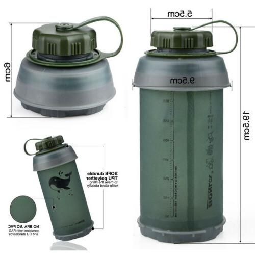 Collapsible Water Bottle Reusable Drinking Kettle Outdoor Tr