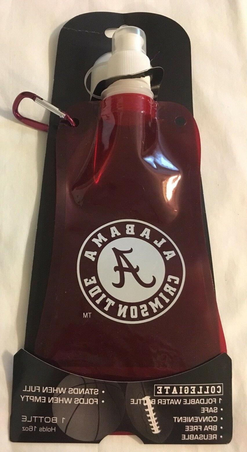 collegiate alabama crimson tide foldable water bottle