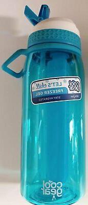 COOL GEAR 32 fl.oz Water Bottle with Freezer Gel