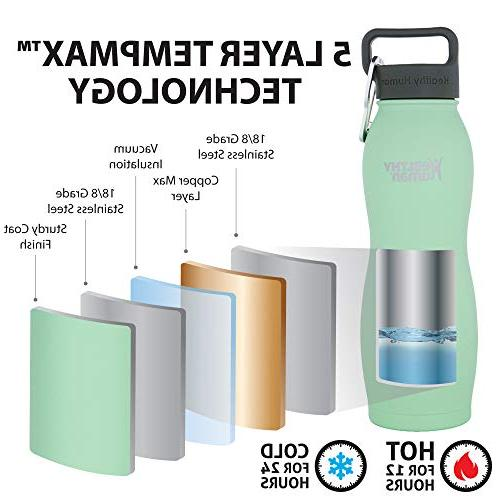 Healthy Vacuum Water Bottles Cold 24 Hours, Hot Hours Double Water and