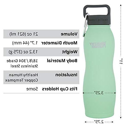 Healthy Human Vacuum Insulated Water Bottles Keeps 24 Hours, Hot 12 Hours | Water Bottle | and 21