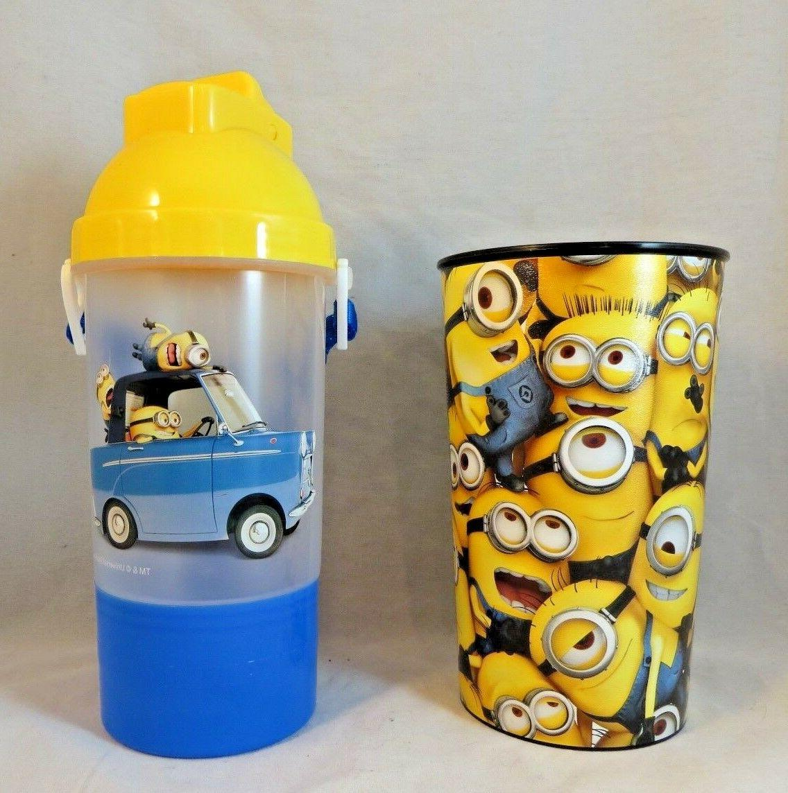 f34cea29c3 Despicable Me Minion Water Bottle With Flip Up Straw and Sna