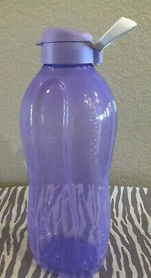Tupperware Eco Water Bottle 2 Liter Lilac w/ White Large Eco