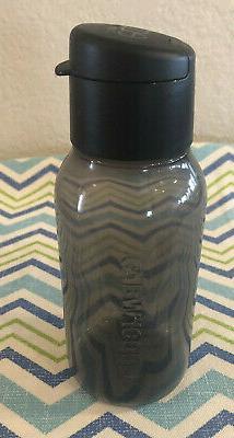 Tupperware Eco Water Bottle Black 11oz w/ Flip Top Seal  New