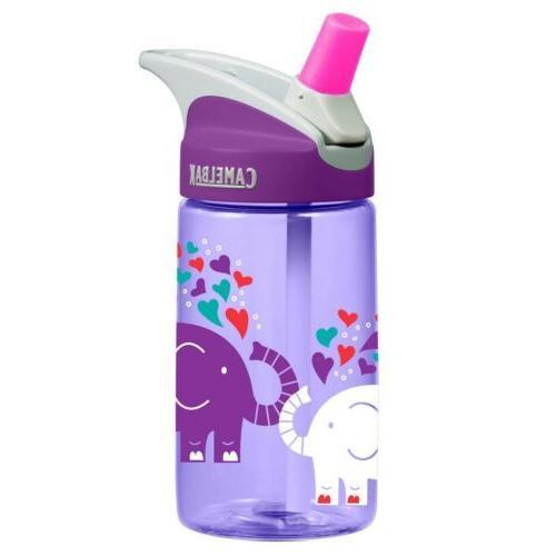 CamelBak Eddy 0.4 Liter Kids Water Bottle - Elephant Love