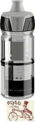 ELITE BOTTLE CRYSTAL OMBRA CLEAR W/GREY GRAPHICS 550ML