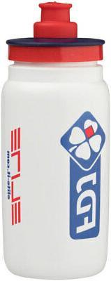 Elite FLY FDJ Water Bottle: 16oz, White Lightweight Racing B